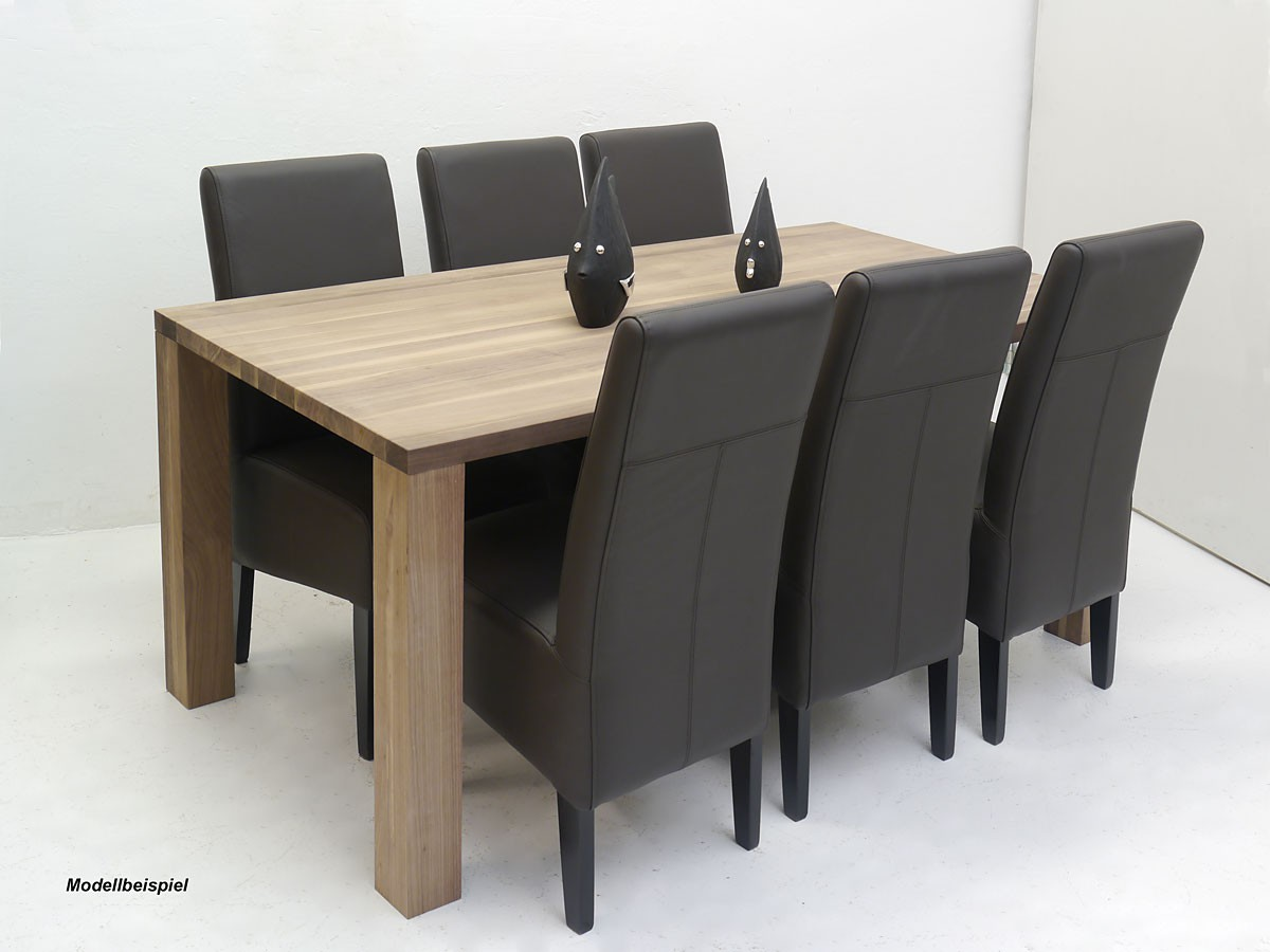 edler esstisch nussbaum massiv f r 8 personen tische esstische. Black Bedroom Furniture Sets. Home Design Ideas