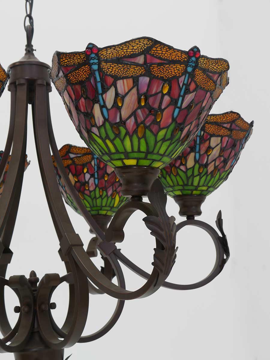 Deckenleuchte im tiffany stil libelle 6 flammig lampen for Lampen deckenleuchten