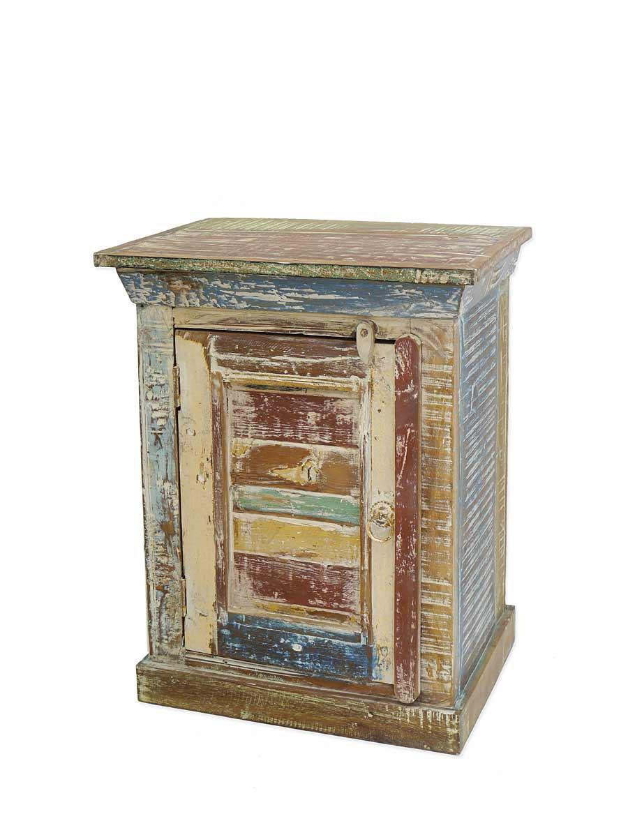 vintage nachtschrank aus sheesham holz 60x47x32 cm. Black Bedroom Furniture Sets. Home Design Ideas