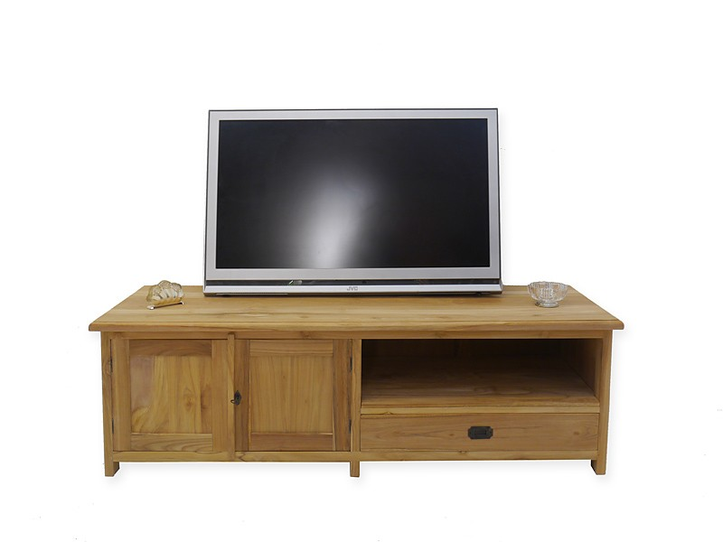 lowboard tv schrank mediterraner stil teak b 160 cm kommoden und anrichten tv schr nkchen. Black Bedroom Furniture Sets. Home Design Ideas
