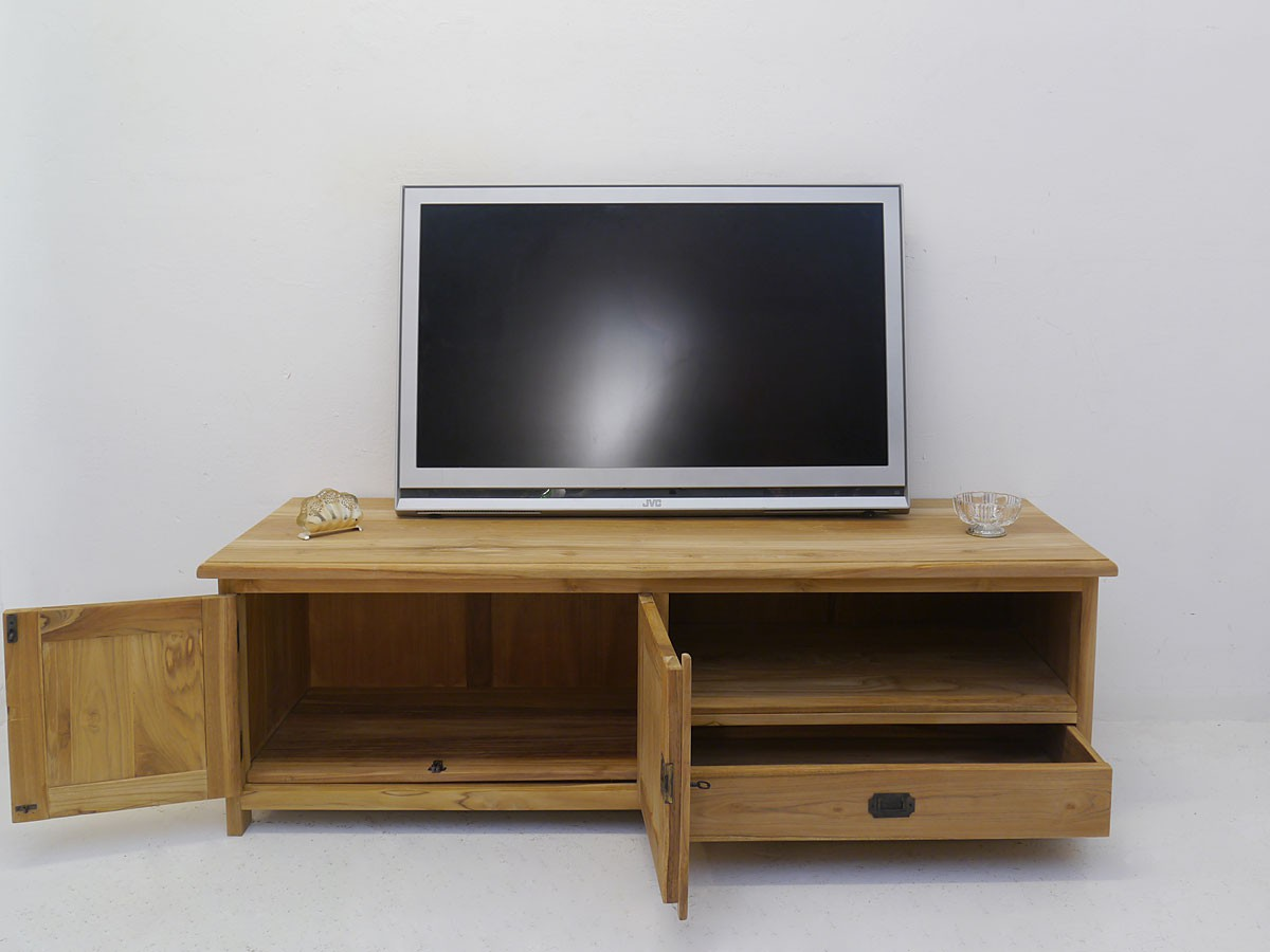lowboard tv schrank mediterraner stil teak b 160 cm. Black Bedroom Furniture Sets. Home Design Ideas