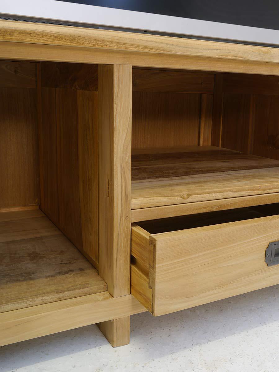 lowboard tv schrank mediterraner stil teak b 145 cm kommoden und anrichten tv schr nkchen. Black Bedroom Furniture Sets. Home Design Ideas
