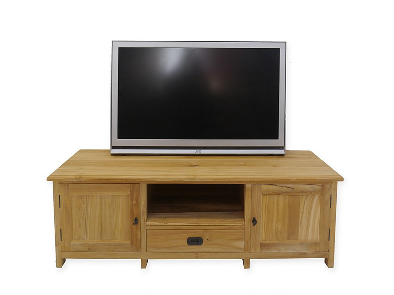 lowboard tv schrank mediterraner stil teak b 145 cm. Black Bedroom Furniture Sets. Home Design Ideas