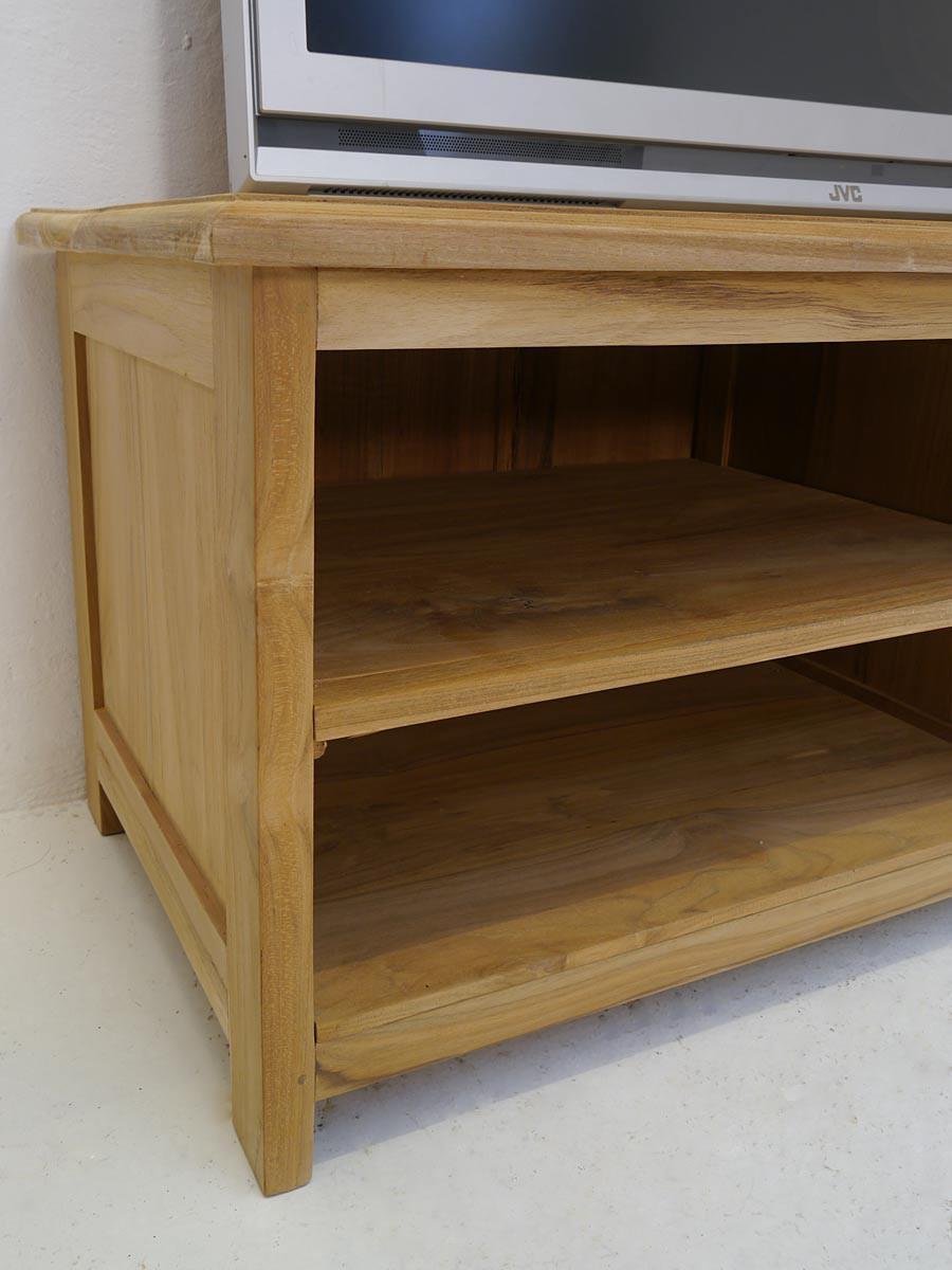 lowboard tv schrank mediterraner stil teak b 125 cm kommoden und anrichten tv schr nkchen. Black Bedroom Furniture Sets. Home Design Ideas