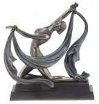 Art Déco Dame Schleiertanz Bronze ähnlich