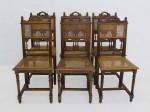 6 Gründerzeit Stühle um 1880 aus Eiche