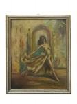 Ölbild + Rahmen Erotische Tänzerin von 1948