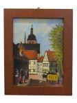 """Bild mit Rahmen """"Dorfstraße mit Postkutsche"""""""