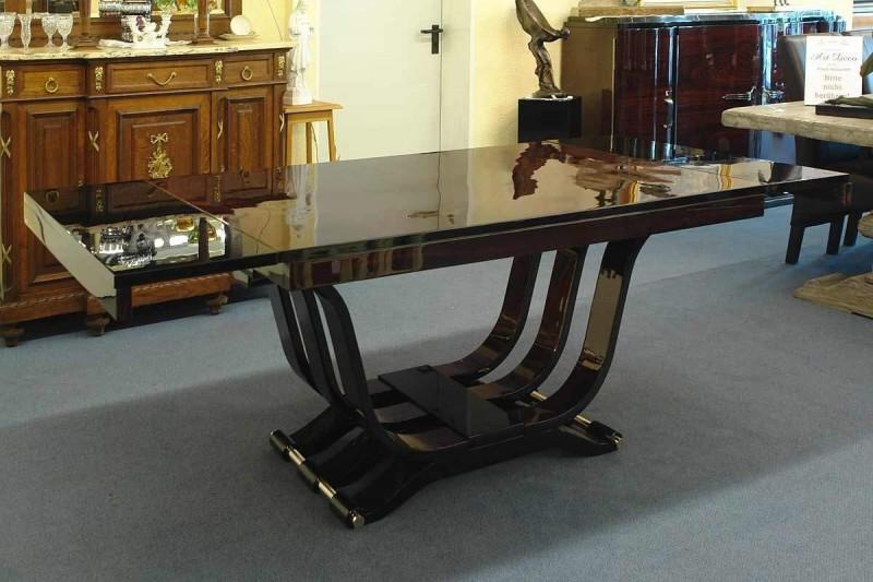 tisch esstisch art deco um 1925 hochglanz lackiert ausziehbar antik 1041 ebay. Black Bedroom Furniture Sets. Home Design Ideas