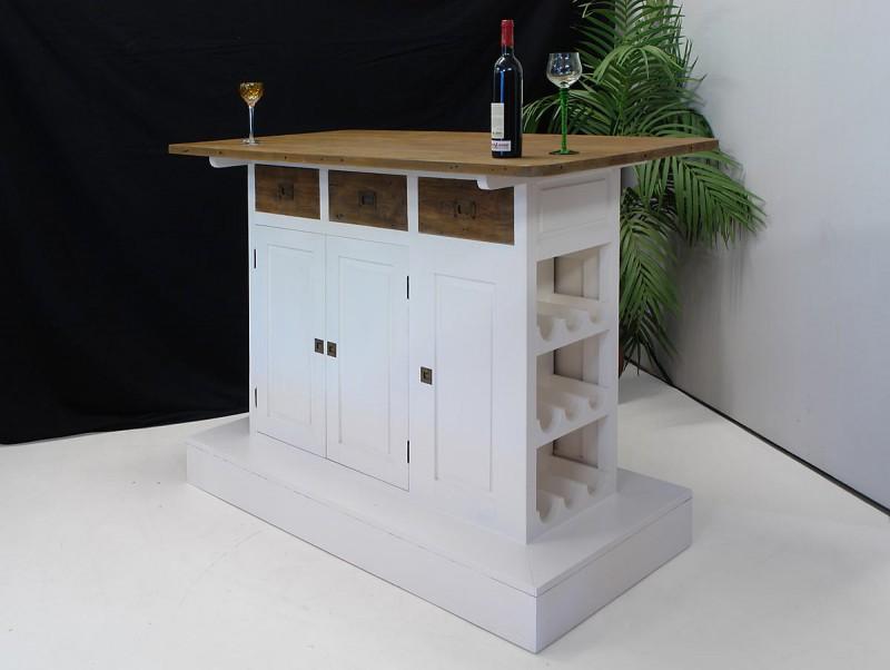 Funktionale Theke Bar im modernen Design in weiß Theken