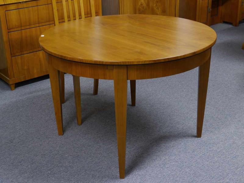 Esstisch tisch rund biedermeier stil kirschbaum furniert for Tisch kirschbaum