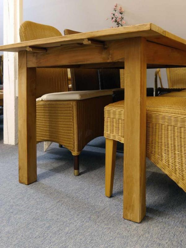 esstisch tisch esszimmertisch massiv teakholz ausziehbar 8 12 personen 2373 ebay. Black Bedroom Furniture Sets. Home Design Ideas