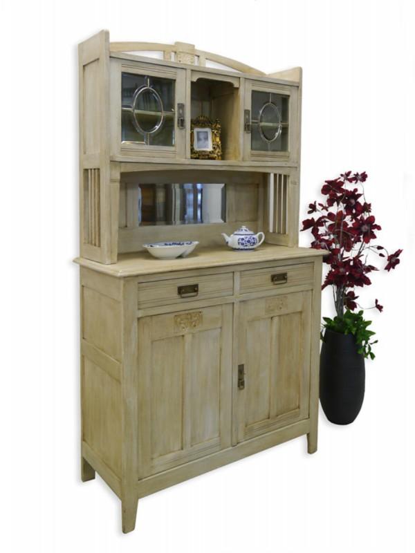 buffet buffetschrank k chenschrank jugendstil um 1900 shabby chic 2562 ebay. Black Bedroom Furniture Sets. Home Design Ideas