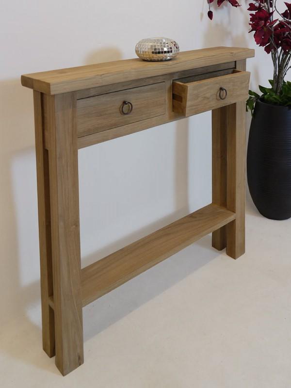 wandtisch flurtisch tisch aus massivem teakholz mediterranen stil 2617 ebay. Black Bedroom Furniture Sets. Home Design Ideas