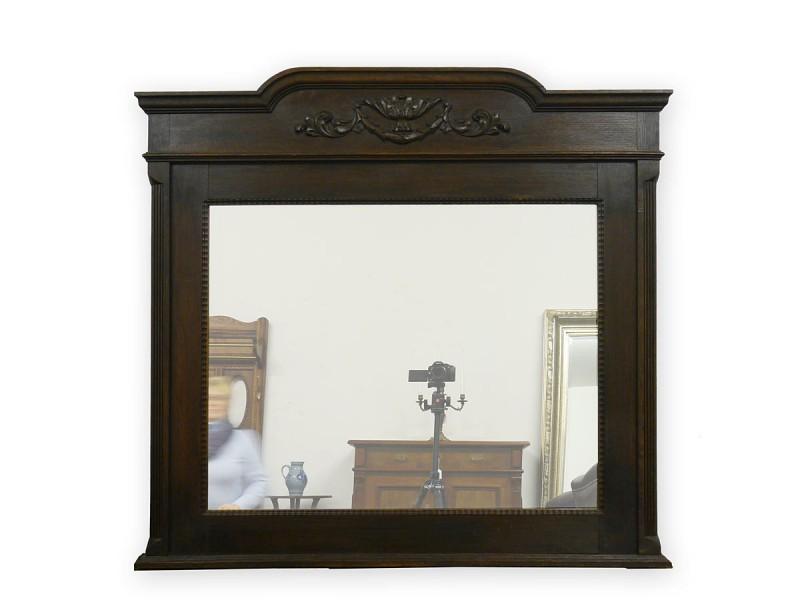 Wandspiegel spiegel antik standspiegel mit holzrahmen in eiche dunkel 3133 - Spiegel holzrahmen eiche ...