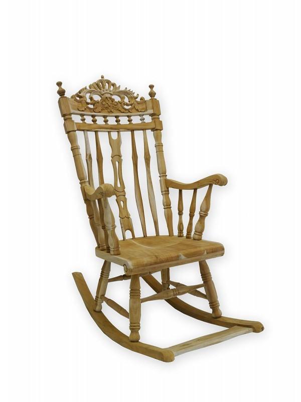 Stuhl schaukelstuhl relaxsessel massivholz unbehandelt for Schaukelstuhl antik