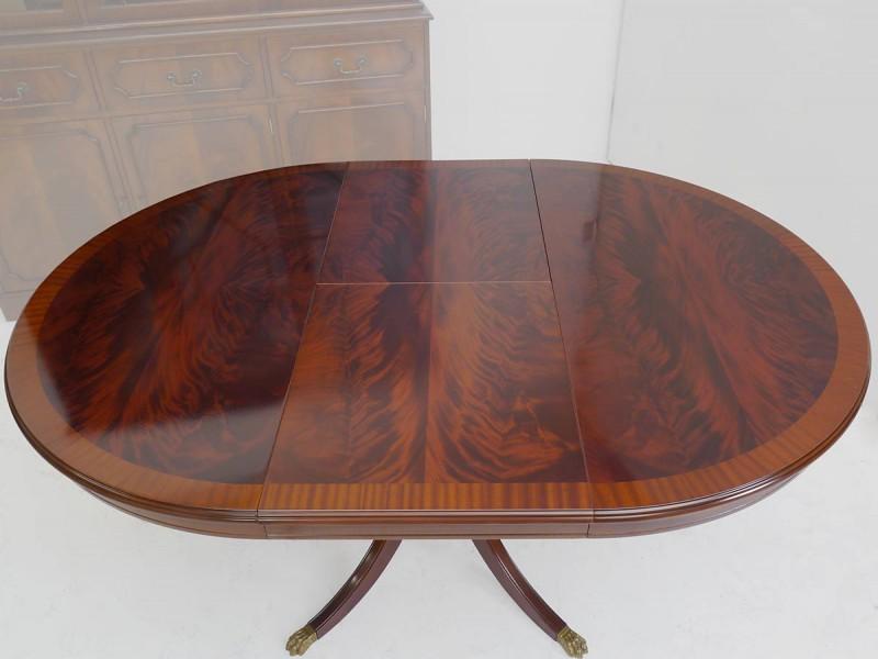 Tisch esstisch esszimmertisch rund ausziehbar englischer for Esszimmertisch rund ausziehbar