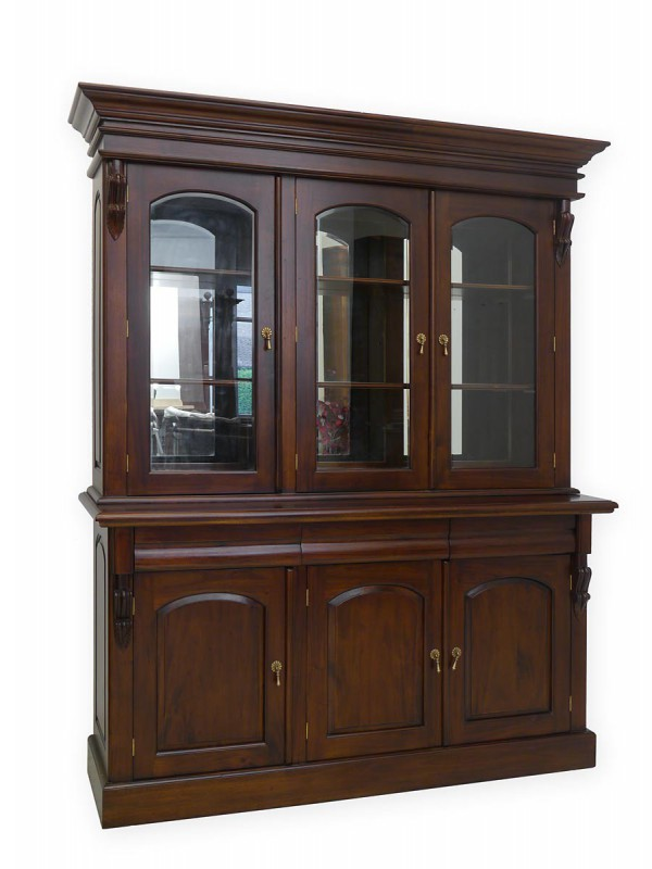 vitrinenschrank b cherschrank englischer stil massiv in mahagoni schr nke buffetschr nke. Black Bedroom Furniture Sets. Home Design Ideas