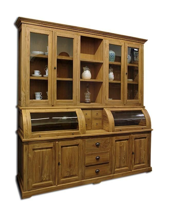 schrank buffetschrank buffet wohnzimmerschrank teak teakholz natur unbehandelt schr nke. Black Bedroom Furniture Sets. Home Design Ideas