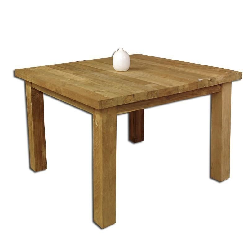 Tisch esstisch teak teakholz rustikal unbehandelt 120x120 for Esstisch teak