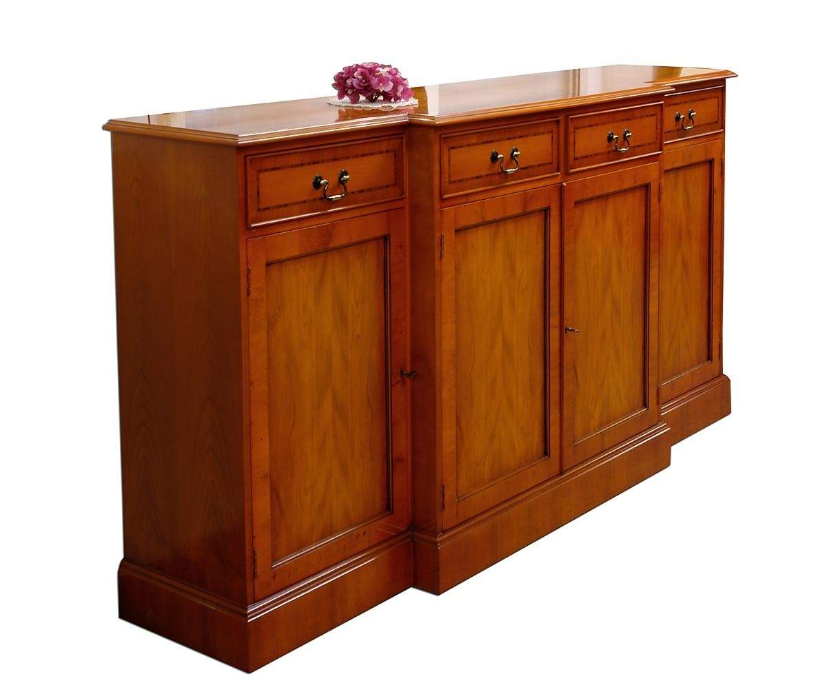 sideboard anrichte eibe mit edlen intarsien wie antik 1032 ebay. Black Bedroom Furniture Sets. Home Design Ideas