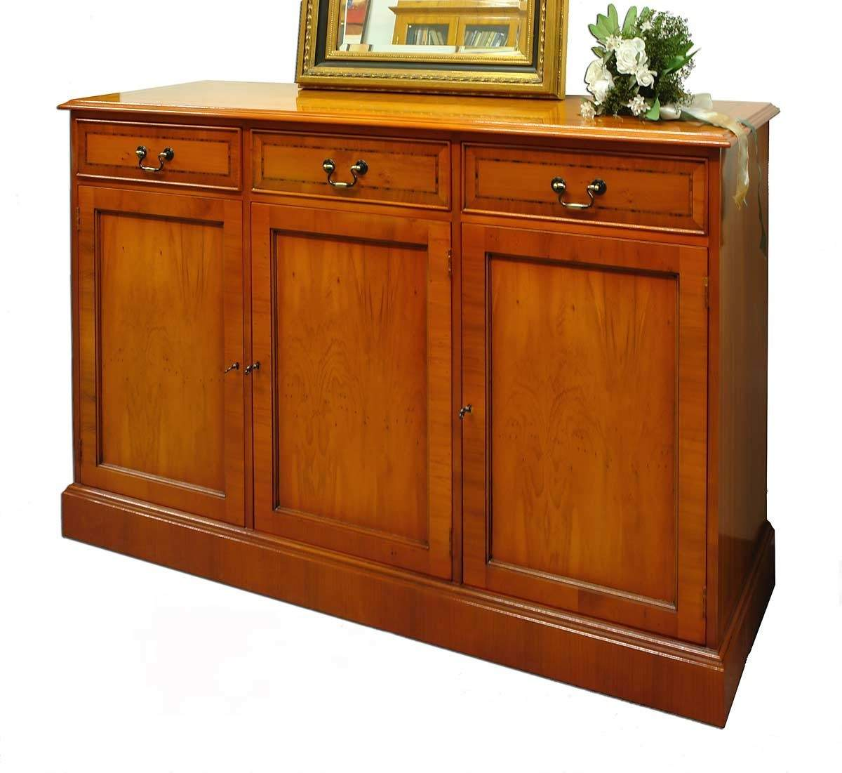 sideboard anrichte kommode aus eibe wie antik 1039 ebay. Black Bedroom Furniture Sets. Home Design Ideas