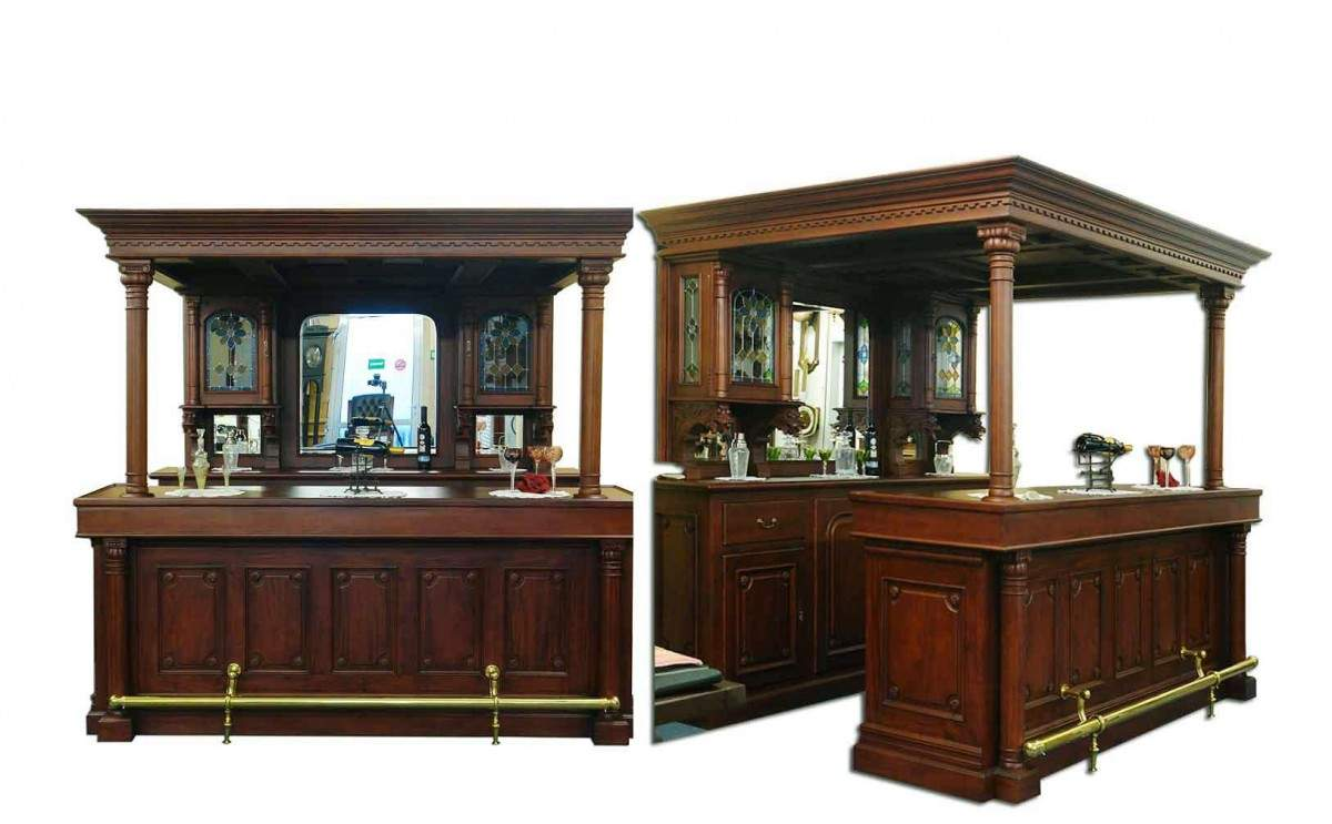 theke tresen bar hausbar kellerbar gastronomie kneipe massivholz 1069 ebay. Black Bedroom Furniture Sets. Home Design Ideas