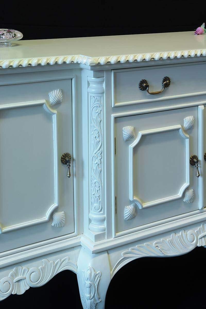 sideboard anrichte antik stil massivholz cremewei kommoden und anrichten sideboards anrichten. Black Bedroom Furniture Sets. Home Design Ideas
