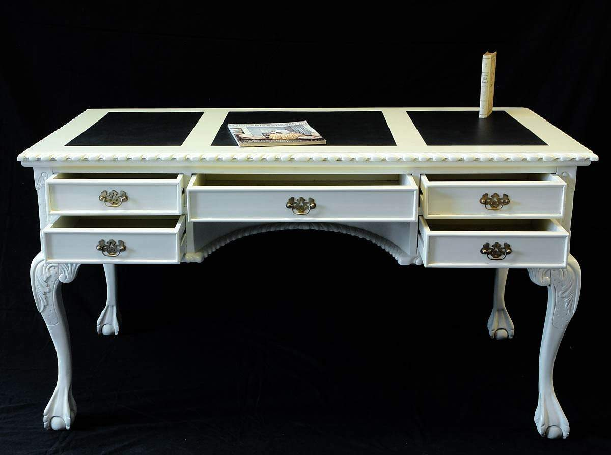 schreibtisch sekret r damenschreibtisch antiker stil creme wei 1091 ebay. Black Bedroom Furniture Sets. Home Design Ideas