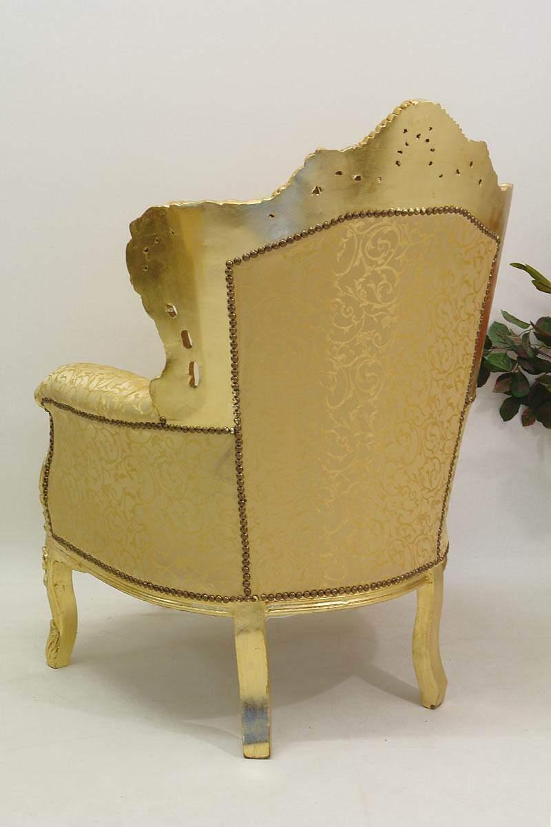 Sessel Stuhl Armlehnsessel Massivholz Antik & Barock Stil