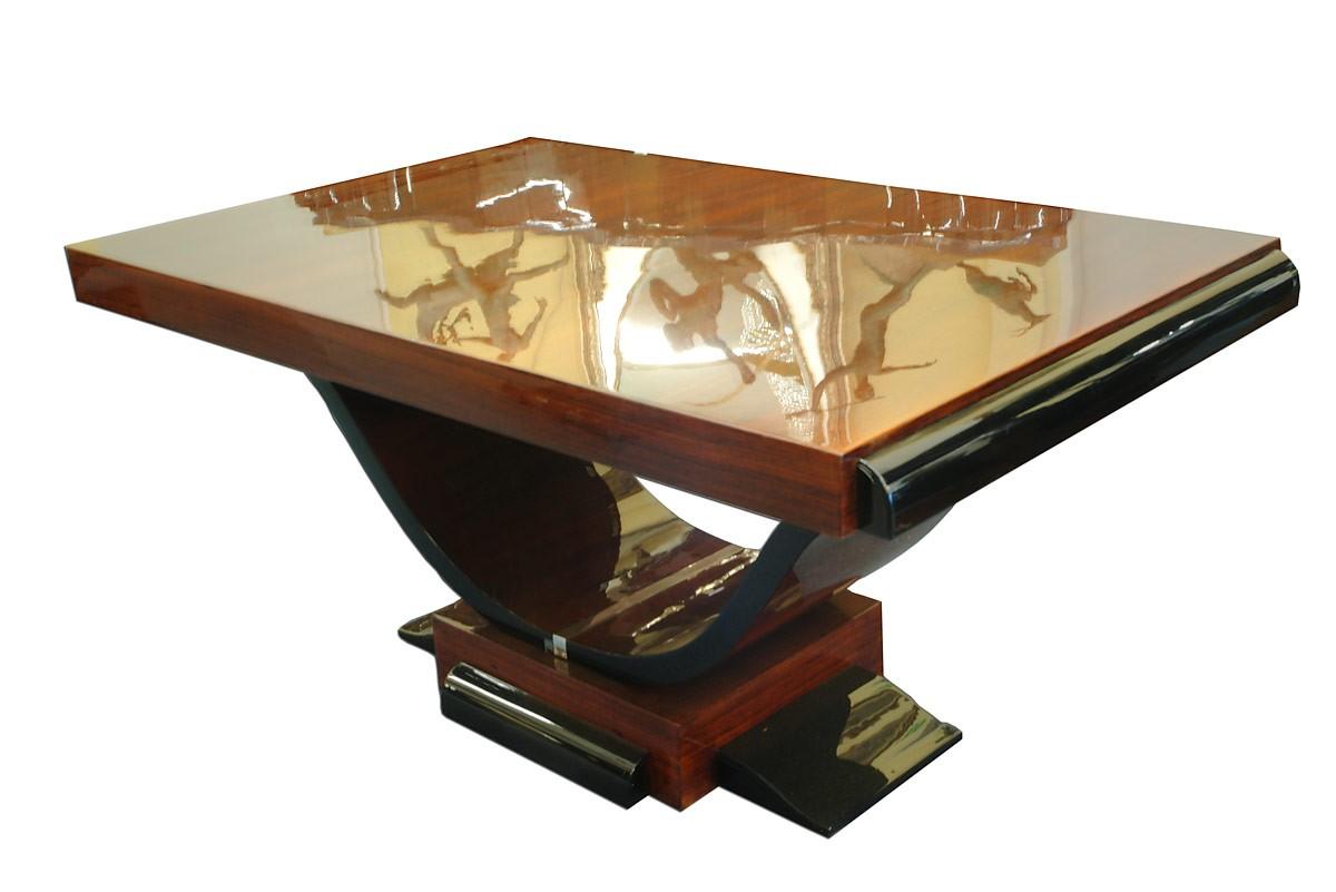 Tisch esstisch wohnzimmertisch art deco ausziehbar auf 230 for Wohnzimmertisch ebay