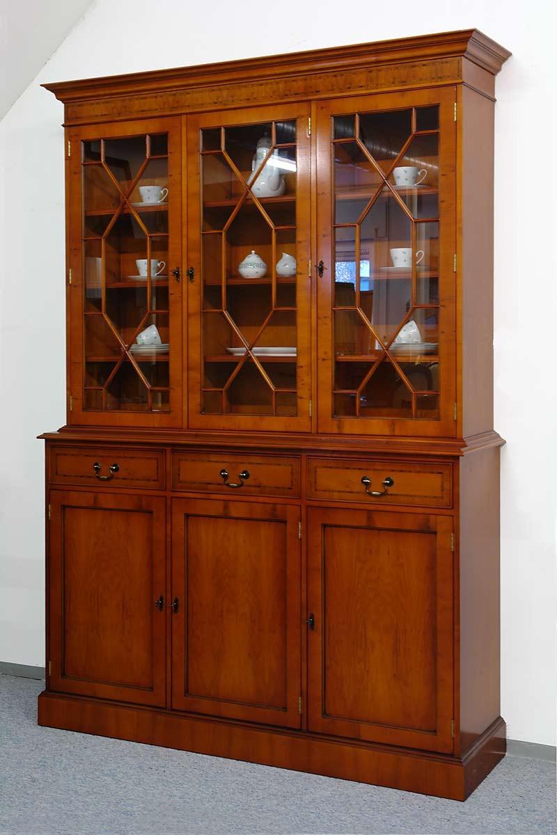 buffet schrank buffetschrank vitrine englischen stil eibe. Black Bedroom Furniture Sets. Home Design Ideas