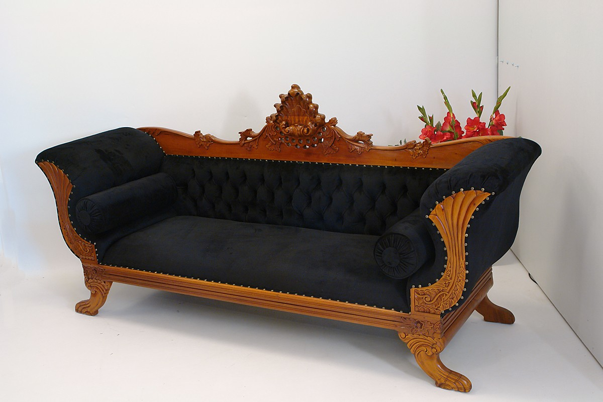 sofa couch schlafsofa im repro antiken stil 1195 ebay. Black Bedroom Furniture Sets. Home Design Ideas