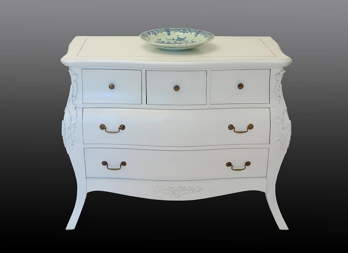 kommode in cremewei im barocken stil kommoden und anrichten kommoden. Black Bedroom Furniture Sets. Home Design Ideas