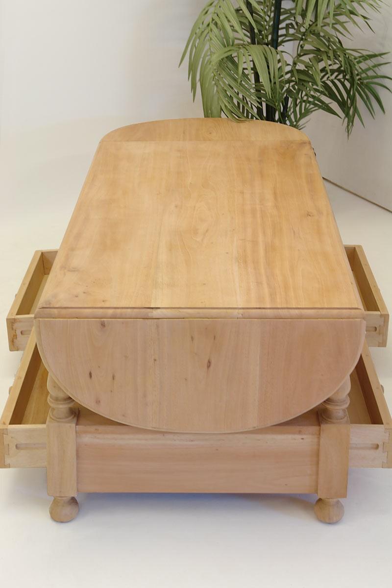 couchtisch im landhausstil ausklappbar unbehandelt tische. Black Bedroom Furniture Sets. Home Design Ideas