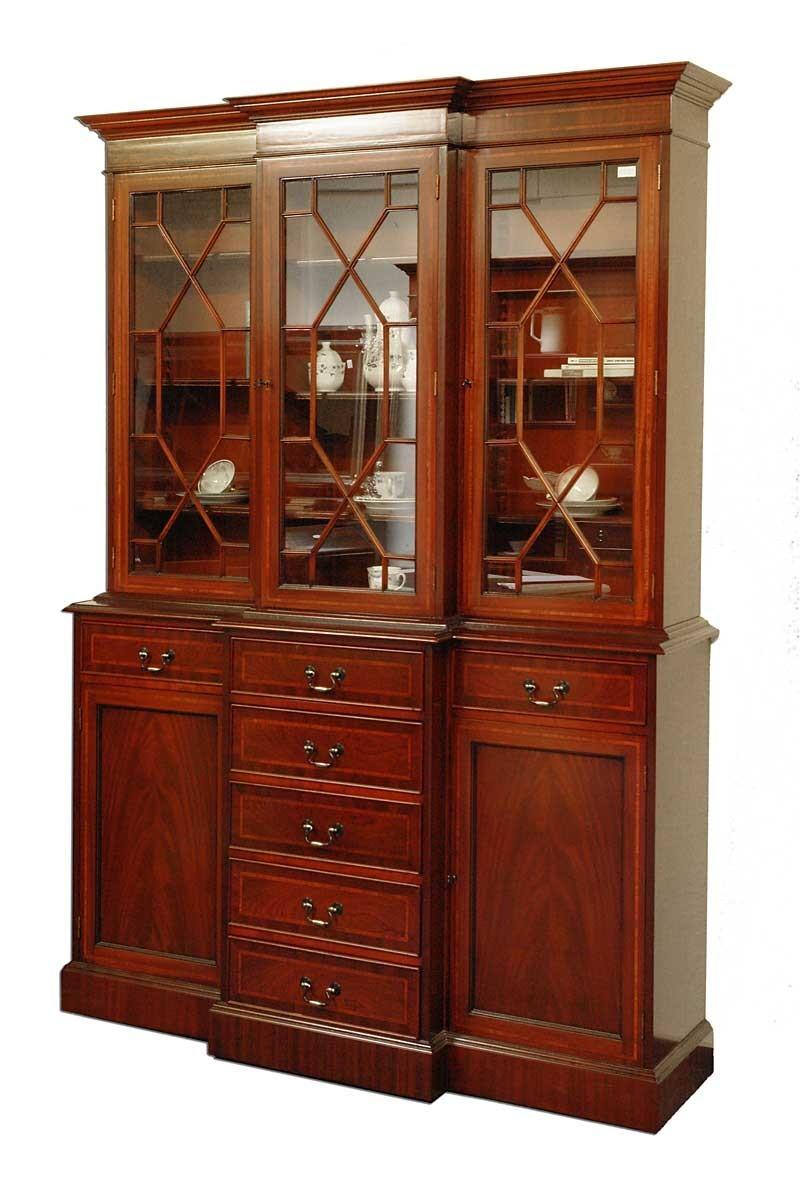 buffet schrank b cherschrank mahagoni im englischen stil. Black Bedroom Furniture Sets. Home Design Ideas