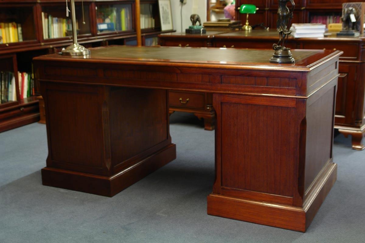 Bilderrahmen Holz Dreiteilig ~ Hochwertiger Schreibtisch  Studio Globe Wernicke  mit Leder Regale