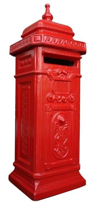 briefkasten postkasten beton engl stil rot. Black Bedroom Furniture Sets. Home Design Ideas