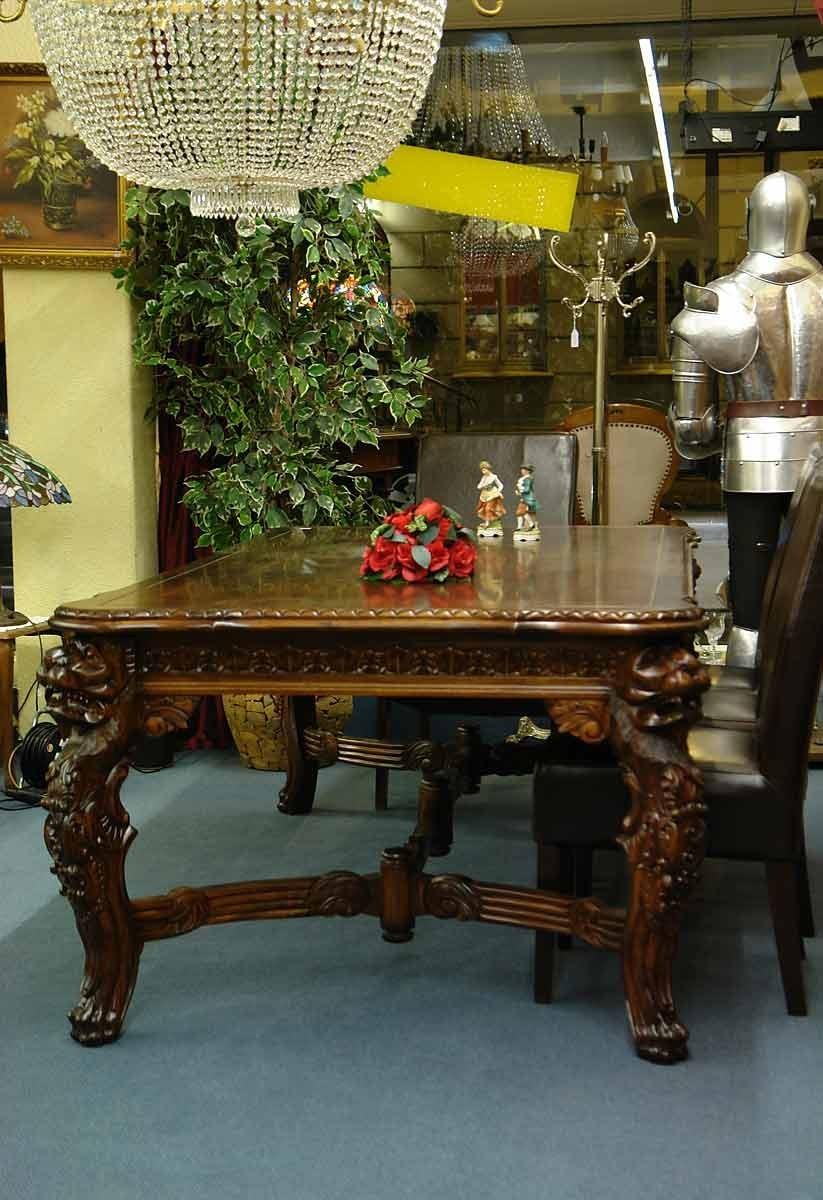 Tisch esstisch mahaghoni massiv mit prunkvollen for Kulissentisch massiv