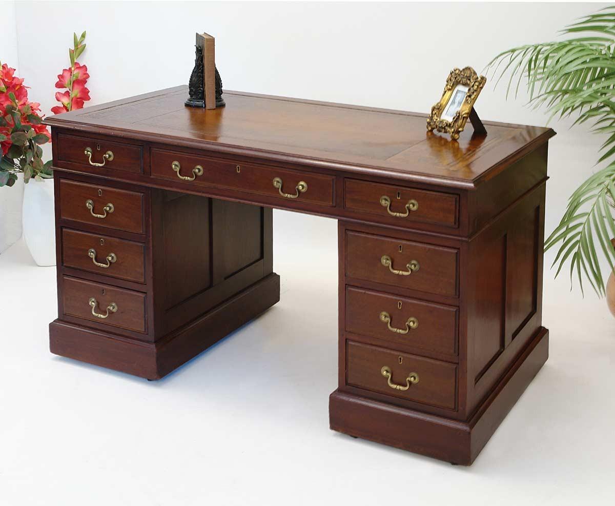 Schreibtisch Computertisch Mahagoni Antik im englischen ...