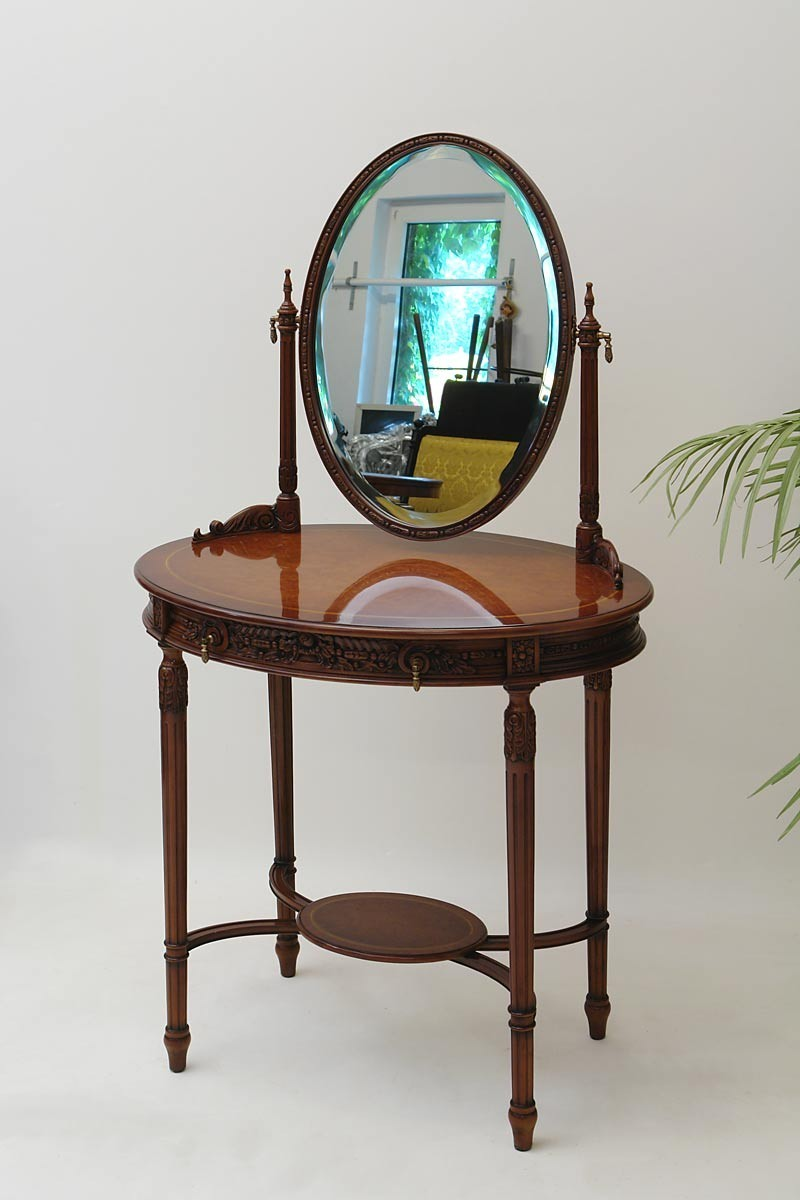 tisch schminktisch frisiertisch englischer stil mahagoni. Black Bedroom Furniture Sets. Home Design Ideas