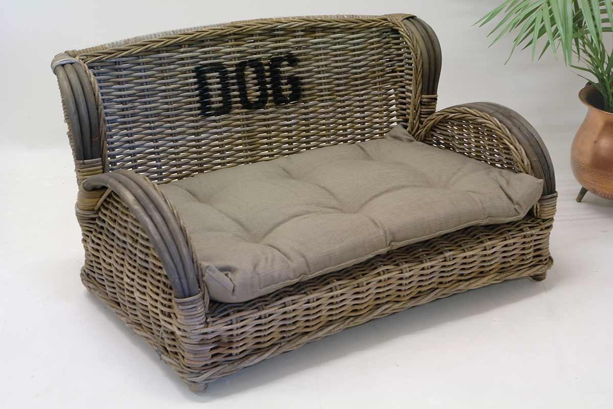 hundesofa hundebett hundekorb rattan im mediterranen stil 1498 ebay. Black Bedroom Furniture Sets. Home Design Ideas