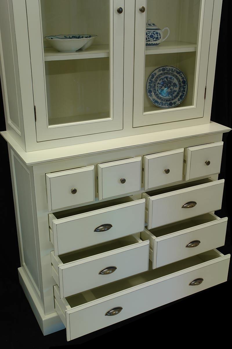k chenbuffet landhausstil aus weichholz cremewei schr nke. Black Bedroom Furniture Sets. Home Design Ideas