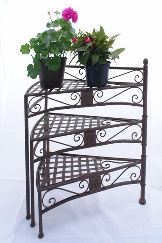 blumentreppe pflanzentreppe blumenregal aus eisen 1620. Black Bedroom Furniture Sets. Home Design Ideas