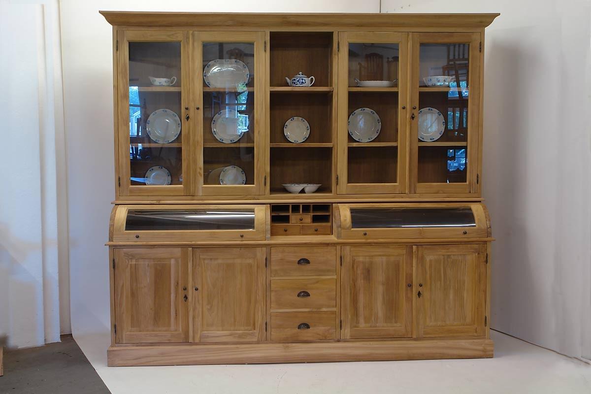 buffet schrank aus teakholz natur unbehandelt schr nke buffetschr nke. Black Bedroom Furniture Sets. Home Design Ideas