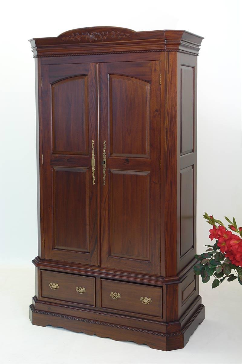 zweit riger kleiderschrank im antik stil mahagoni schr nke kleiderschr nke. Black Bedroom Furniture Sets. Home Design Ideas