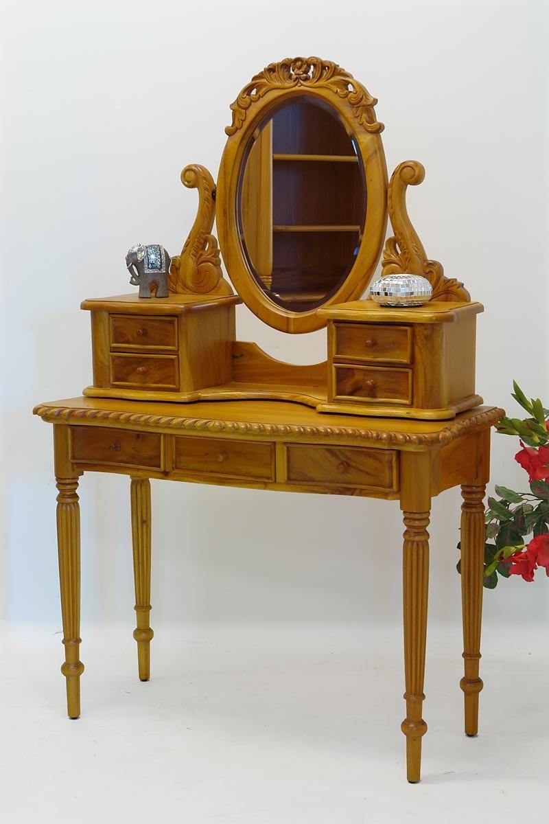 schminktisch mit spiegelaufsatz antik stil tische. Black Bedroom Furniture Sets. Home Design Ideas