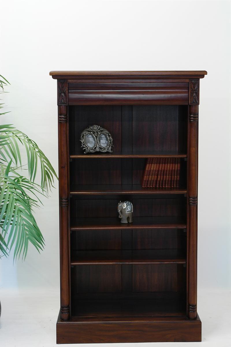 b cherregal massivholz mit schublade antik stil regale regalsysteme regale. Black Bedroom Furniture Sets. Home Design Ideas