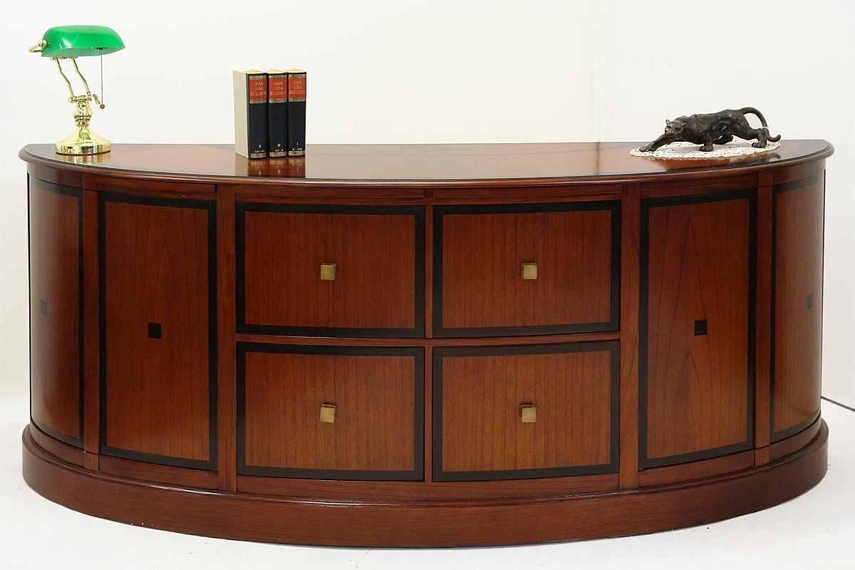 hochwertiges ovales studio globe wernicke sideboard u a. Black Bedroom Furniture Sets. Home Design Ideas