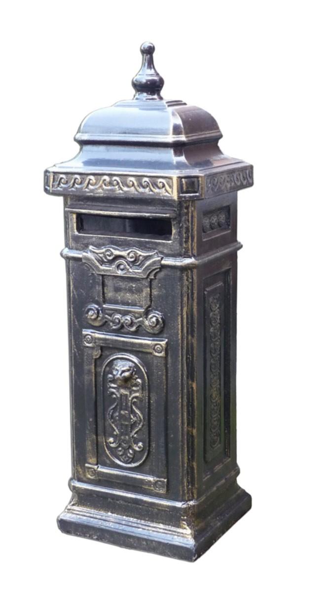 briefkasten postkasten beton im englischen stil in schwarz gold dekoration und sonstiges briefk sten. Black Bedroom Furniture Sets. Home Design Ideas